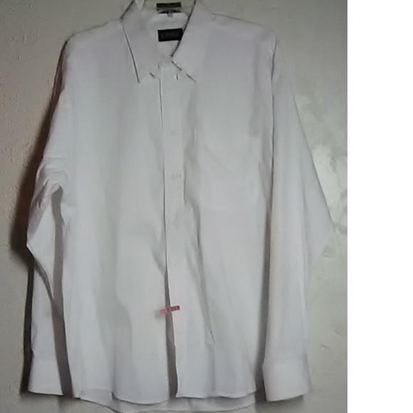 Kasper Other - Kasper White Pinpoint Oxford Shirt Size 17 34/35